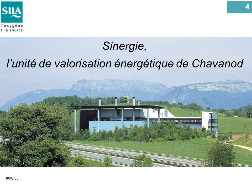 5 18/02/03 Sinergie, 54 4 lunité de valorisation énergétique de Chavanod
