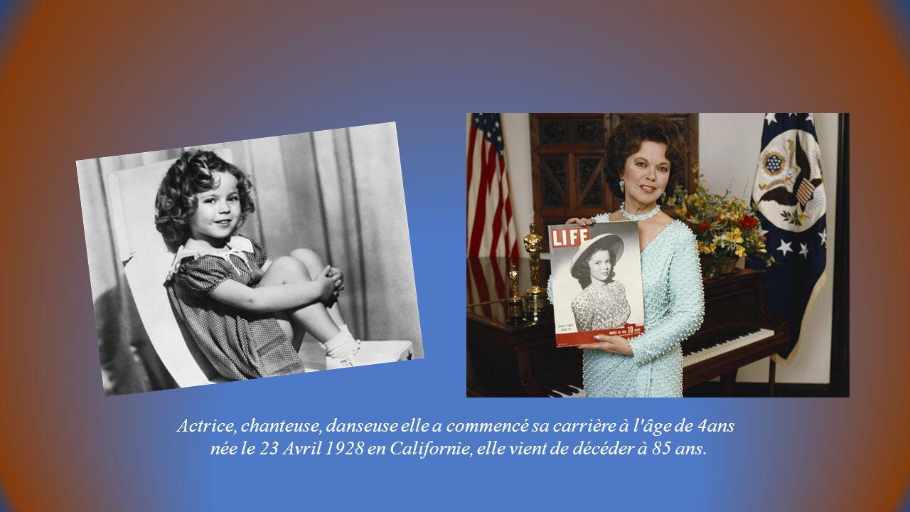 Actrice, chanteuse, danseuse elle a commencé sa carrière à l âge de 4ans née le 23 Avril 1928 en Californie, elle vient de décéder à 85 ans.