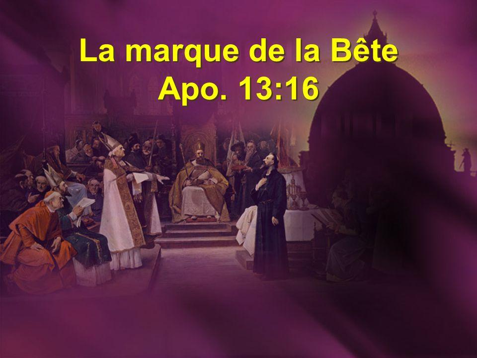 La marque de la Bête Apo. 13:16 La marque de la Bête Apo. 13:16