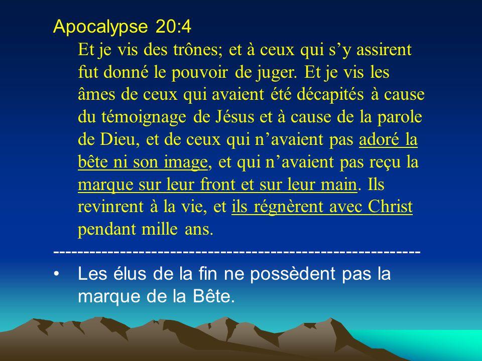 Apocalypse 20:4 Et je vis des trônes; et à ceux qui sy assirent fut donné le pouvoir de juger. Et je vis les âmes de ceux qui avaient été décapités à