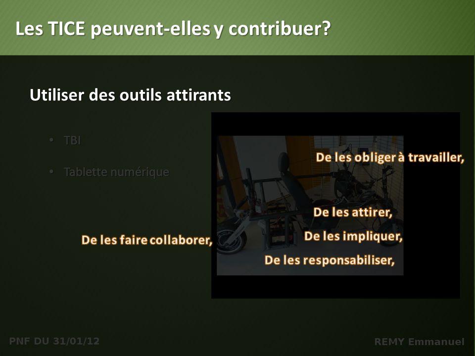 TBI TBI Tablette numérique Tablette numérique Les TICE peuvent-elles y contribuer.
