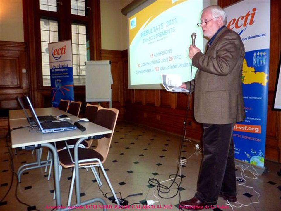 Assemblée annuelle ECTI NORD- PAS DE CALAIS 31-01-2012 Présentation de G. Valéri