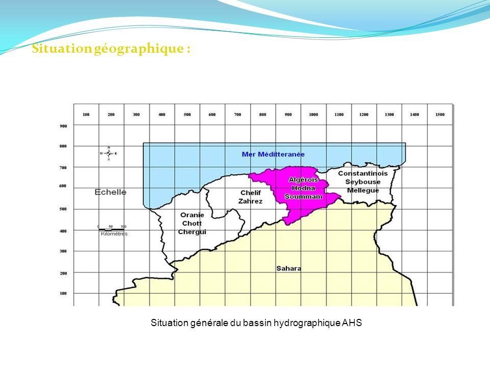 Situation géographique : Situation générale du bassin hydrographique AHS