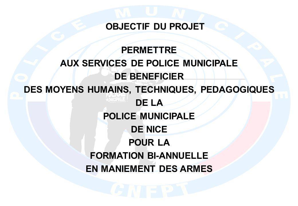 CONSTAT DE LA SITUATION DIAGNOSTIC DES MISES EN APPLICATION DES FORMATIONS EN MANIEMENT DES ARMES PAR LES POLICES MUNICIPALES