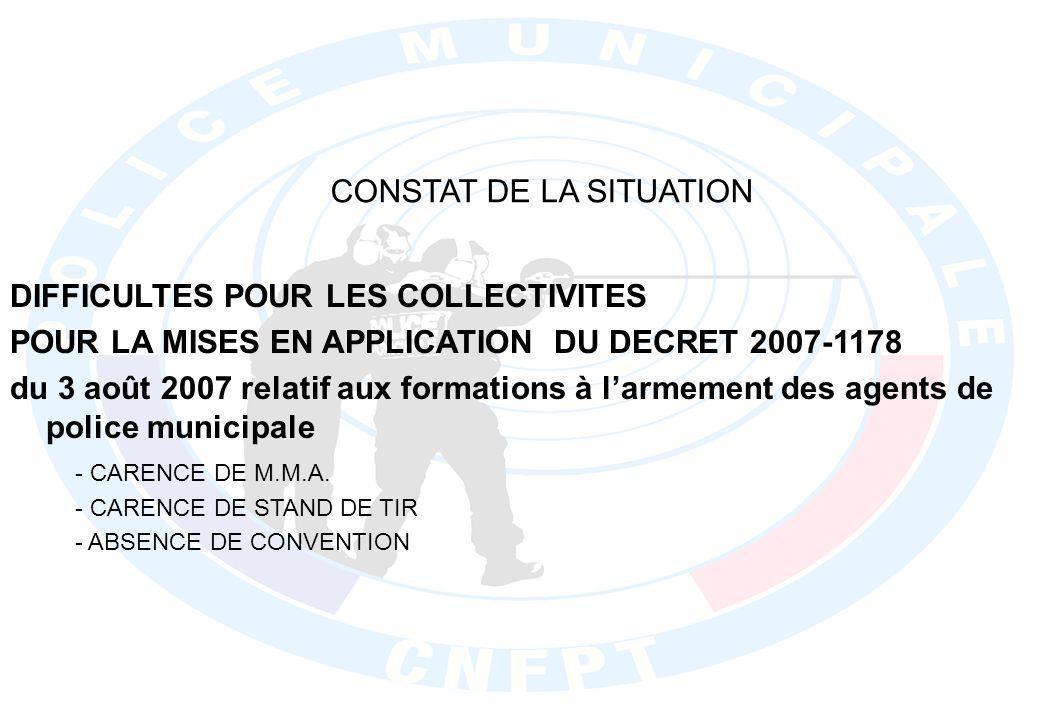 CONSTAT DE LA SITUATION - CARENCE DE M.M.A.