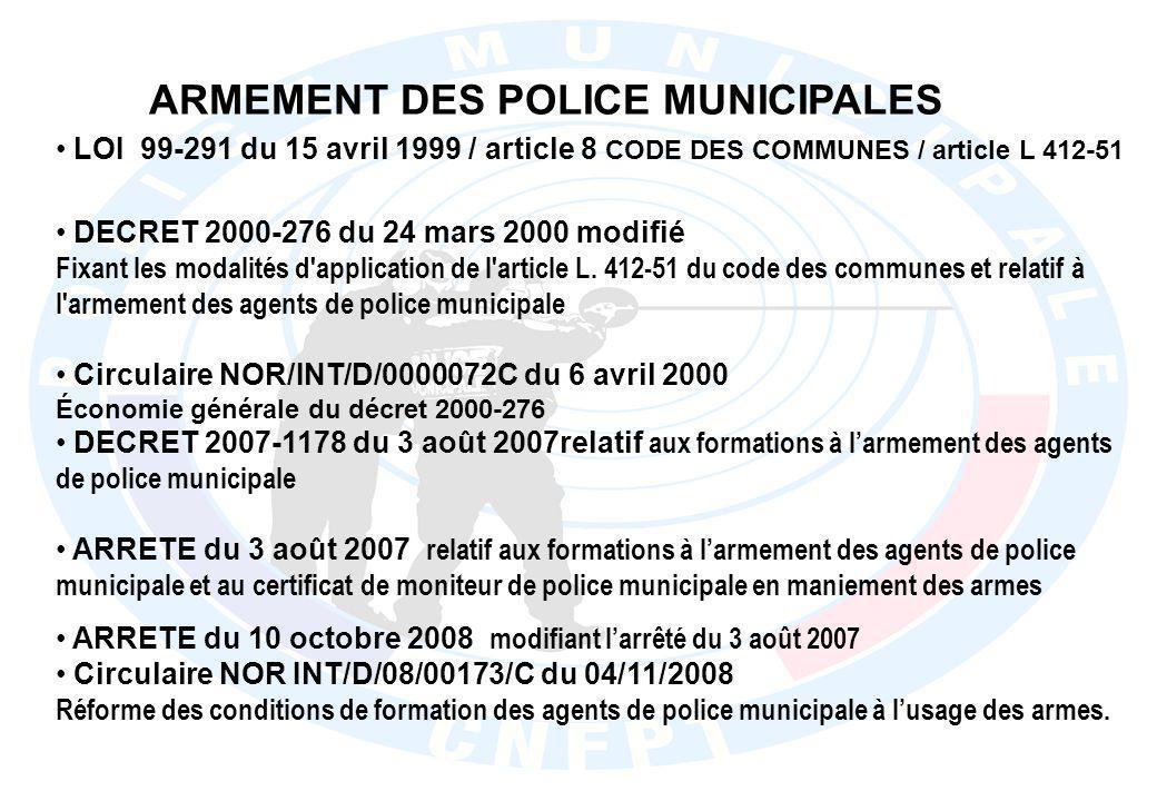 Décret n°2008-993 du 22 septembre 2008 Pistolet à Impulsion Electrique DECRET 2000-276 du 24 mars 2000 modifié fixant les modalités d application de l article L.