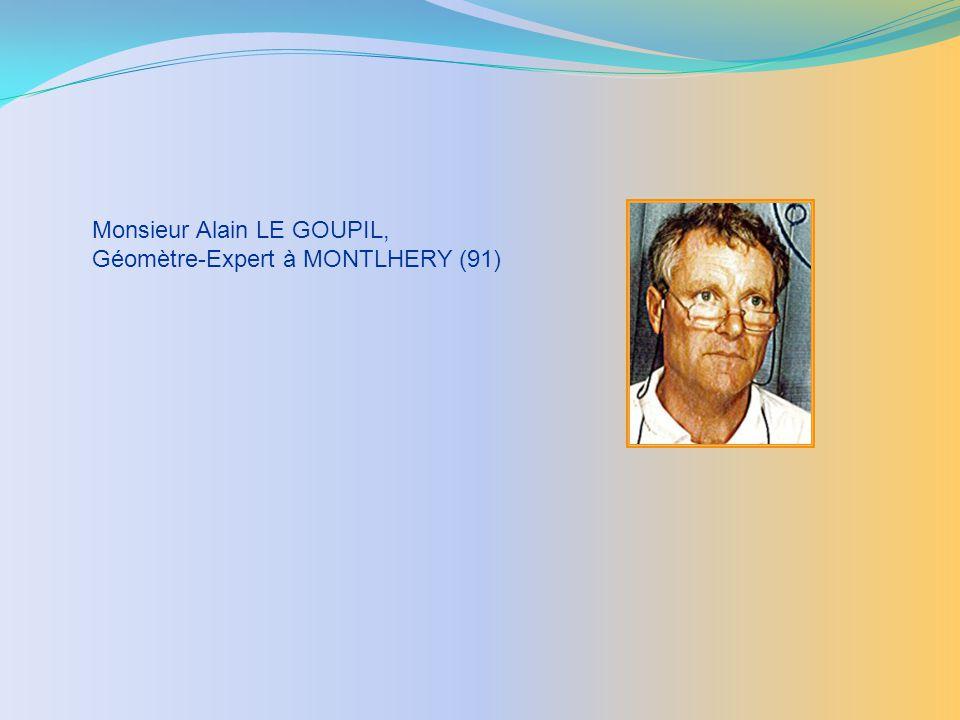 Monsieur Alain LE GOUPIL, Géomètre-Expert à MONTLHERY (91)