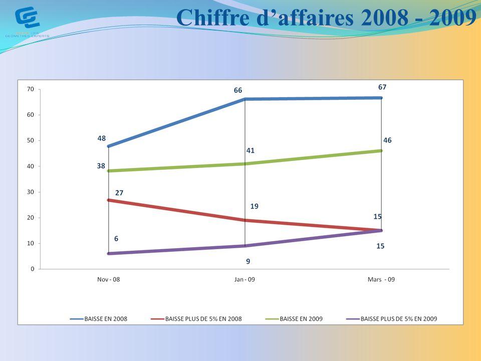Chiffre daffaires 2008 - 2009