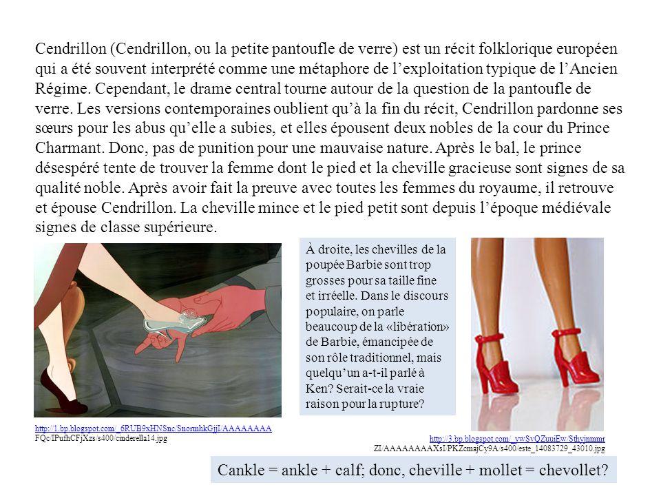 Cendrillon (Cendrillon, ou la petite pantoufle de verre) est un récit folklorique européen qui a été souvent interprété comme une métaphore de lexploi