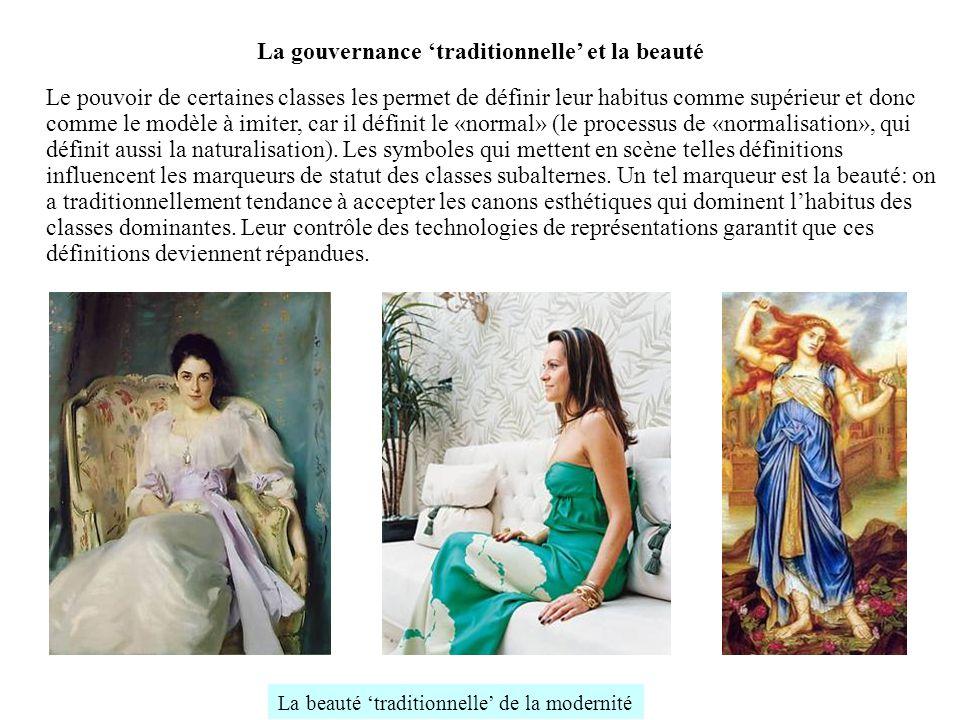 La gouvernance traditionnelle et la beauté Le pouvoir de certaines classes les permet de définir leur habitus comme supérieur et donc comme le modèle