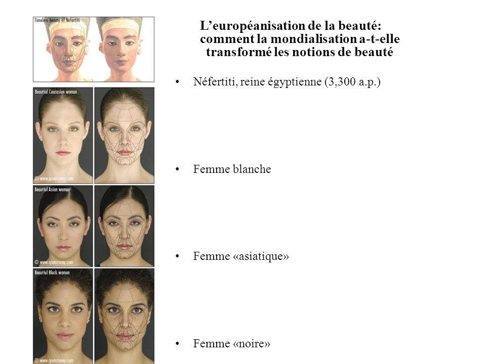 Leuropéanisation de la beauté: comment la mondialisation a-t-elle transformé les notions de beauté Néfertiti, reine égyptienne (3,300 a.p.) Femme blan