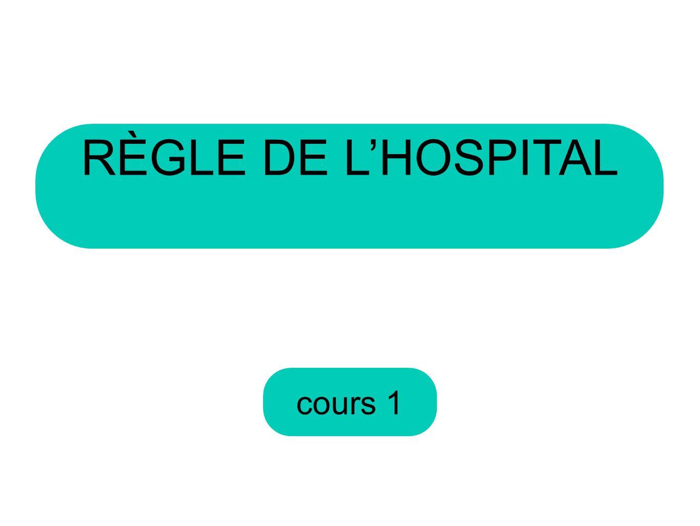 cours 1 RÈGLE DE LHOSPITAL