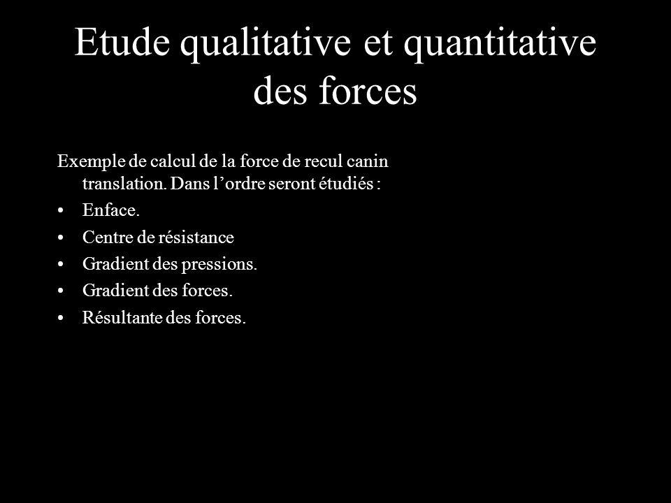 Etude qualitative et quantitative des forces Exemple de calcul de la force de recul canin translation.