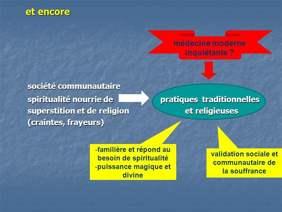 et encore société communautaire spiritualité nourrie de pratiques traditionnelles superstition et de religion et religieuses superstition et de religi