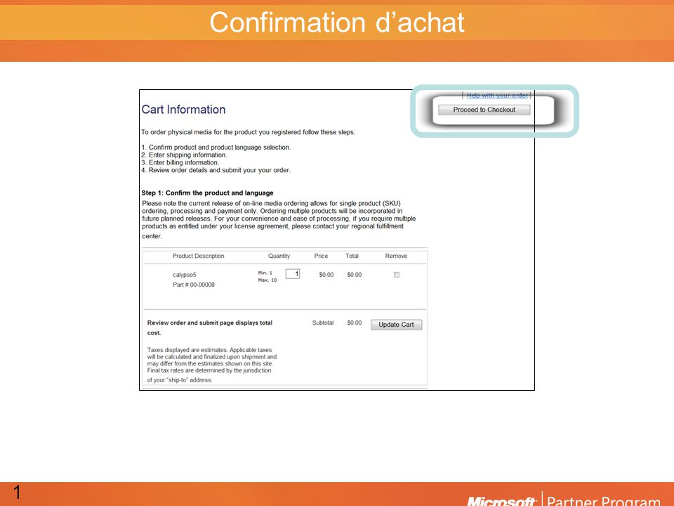 Confirmation dachat 11