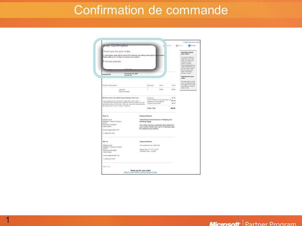 Confirmation de commande 15