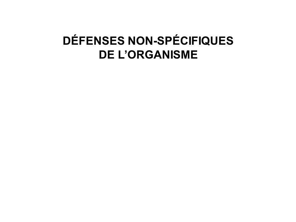 DÉFENSES NON-SPÉCIFIQUES DE LORGANISME