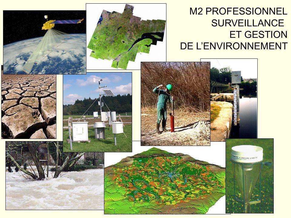 Déroulement de la Formation UE 6 : Instrumentation en environnement (3 ECTS) –Matière 1 : Instruments pour la surveillance de lenvironnement (4 jours – stage de terrain)