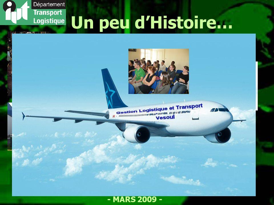 - MARS 2009 - Un peu dHistoire… 1966 : Création des IUT 1967 : Ouverture de lIUT à Besançon 1988 : Ouverture de lantenne de Vesoul 1992 : D.U.T.