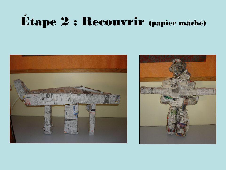 Étape 2 : Recouvrir (papier mâché)