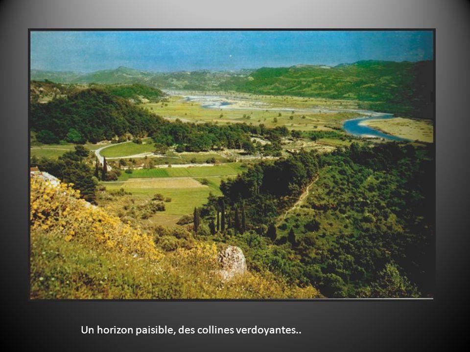 Un horizon paisible, des collines verdoyantes..