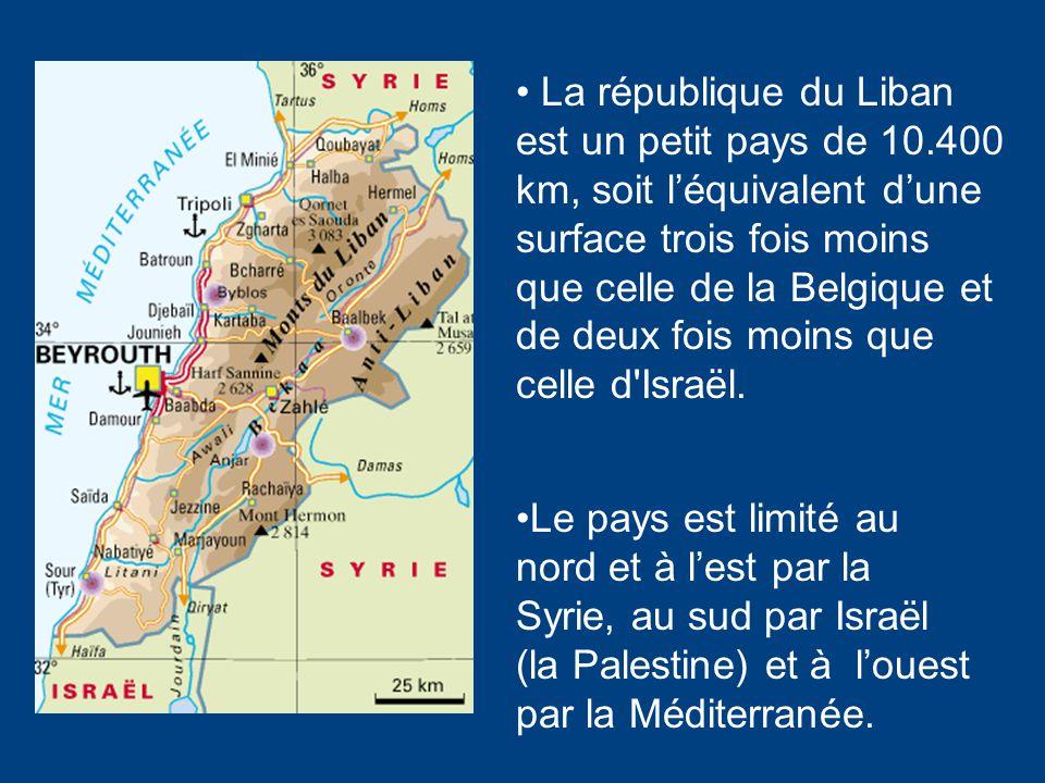 *Capitale: Beyrouth Quelques infos générales… * Population: 3,5 millions (est. 2004) *Langue officielle: arabe, (le français) * Système politique: rép