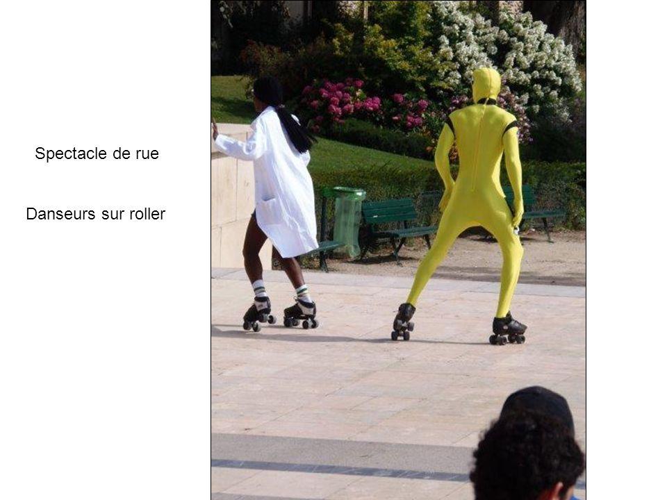 Spectacle de rue Danseurs sur roller