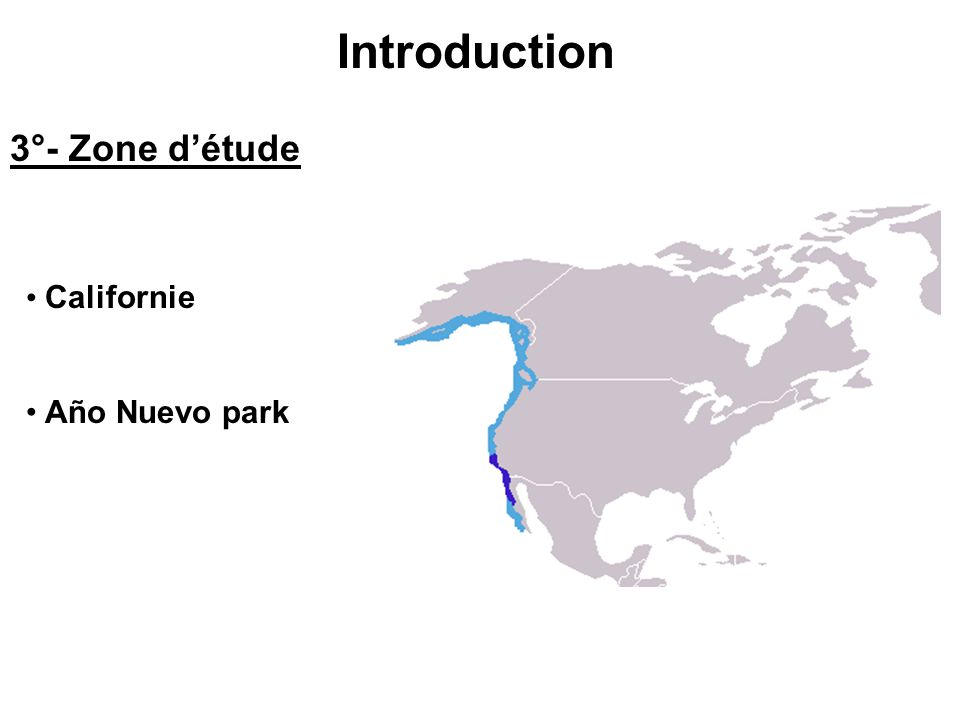 Introduction 3°- Zone détude Californie Año Nuevo park
