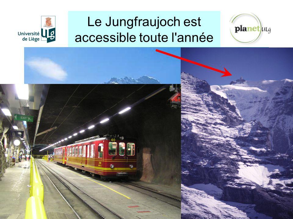 Le Jungfraujoch est accessible toute l'année http://planet.ulg.ac.be