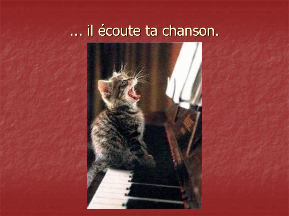... il écoute ta chanson.