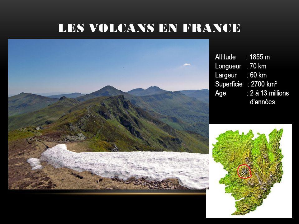Altitude : 1855 m Longueur : 70 km Largeur : 60 km Superficie : 2700 km² Age : 2 à 13 millions d'années