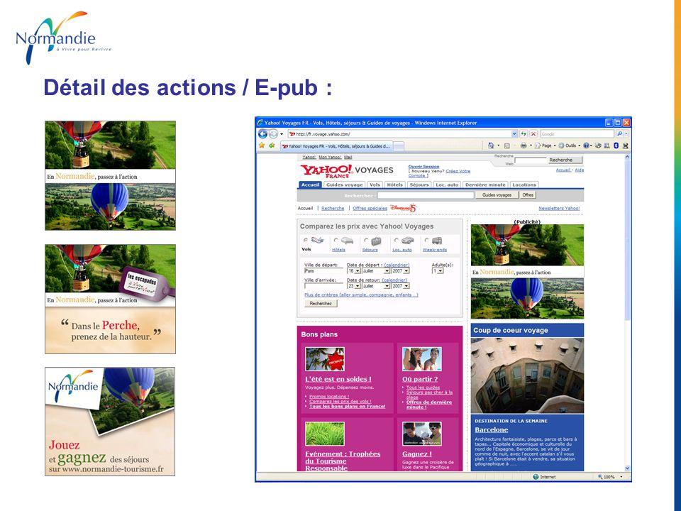 Détail des actions / E-letter : Landing page de campagne Média Affinitaire