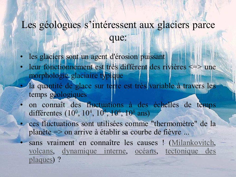 Le glacier arrache des matériaux au substrat rocheux; tout ce matériel sédimentaire produit directement par l'action de rabotage de la glace sur la ro