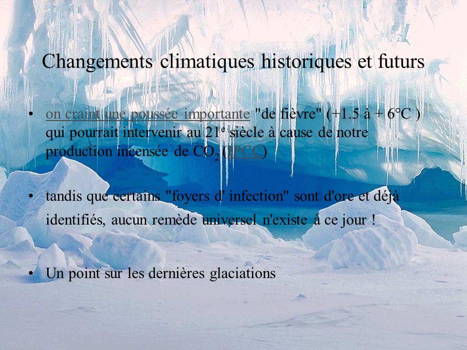 Les géologues sintéressent aux glaciers parce que: les glaciers sont un agent d érosion puissant leur fonctionnement est très différent des rivières une morphologie glaciaire typique la quantité de glace sur terre est très variable à travers les temps géologiques on connaît des fluctuations à des échelles de temps différentes (10 0, 10 4, 10 5, 10 6, 10 8 ans) ces fluctuations sont utilisées comme thermomètre de la planète => on arrive à établir sa courbe de fièvre...