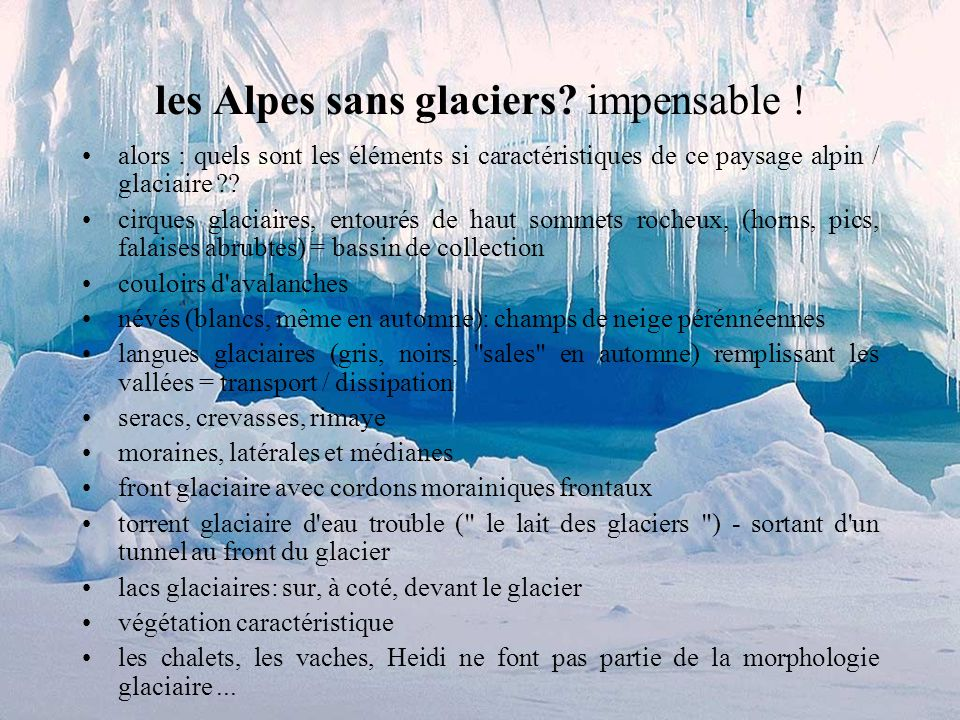 Description dun glacier alpin maquette en plâtre d un glacier alpin par A.