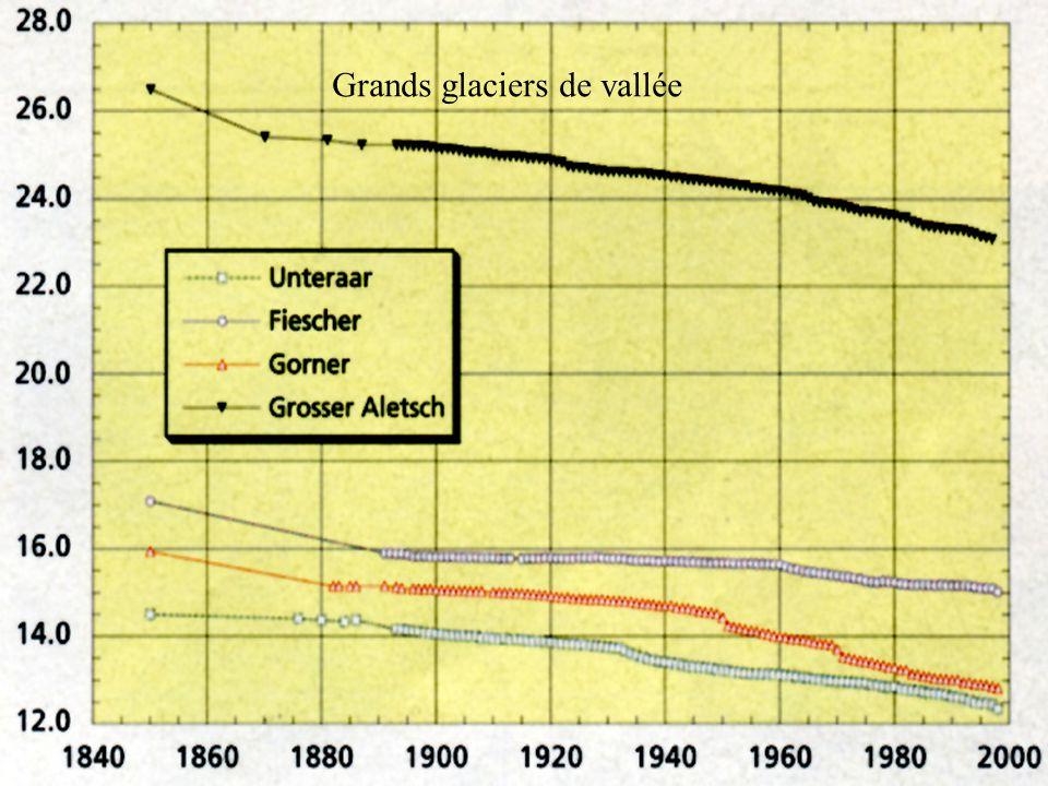 Glaciers de tailles moyennes