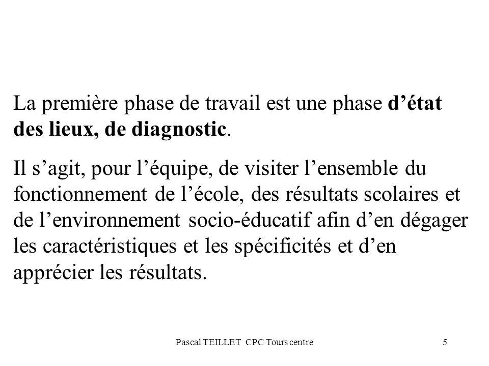 5 La première phase de travail est une phase détat des lieux, de diagnostic. Il sagit, pour léquipe, de visiter lensemble du fonctionnement de lécole,