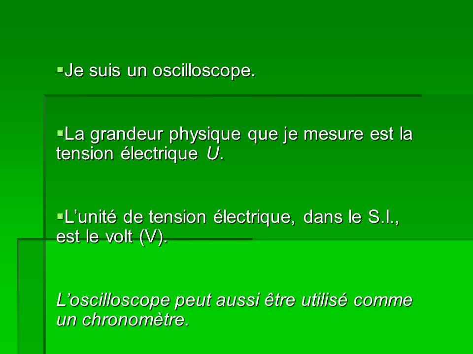 Je suis un oscilloscope. Je suis un oscilloscope.