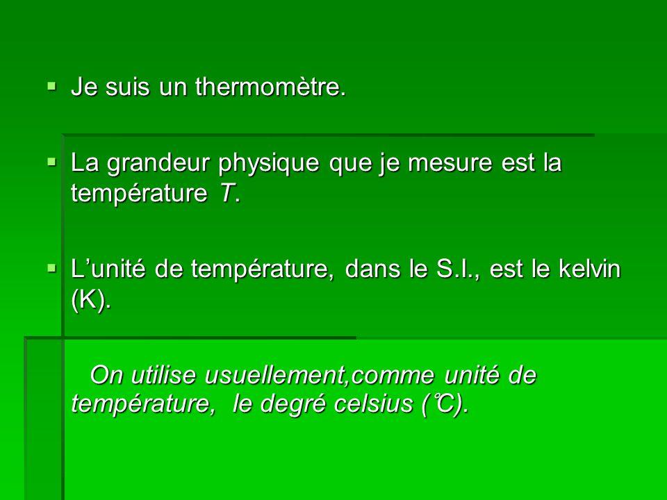 Je suis un thermomètre. Je suis un thermomètre.