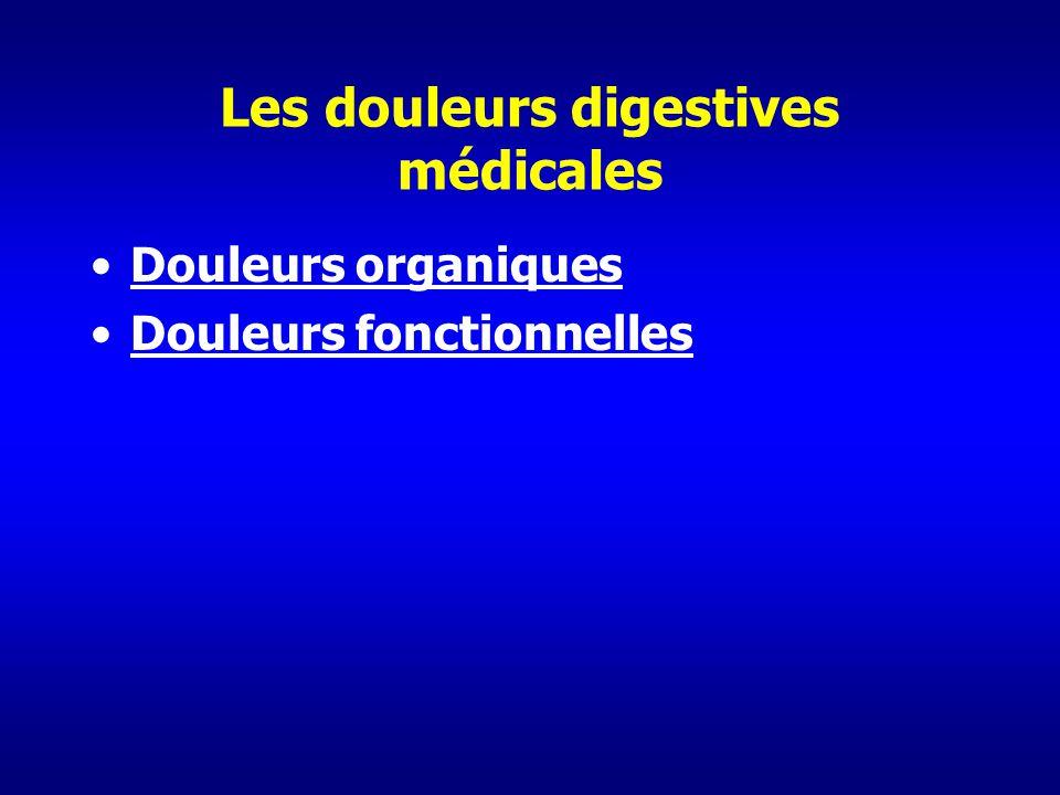 Les douleurs digestives médicales Douleurs organiques Douleurs fonctionnelles