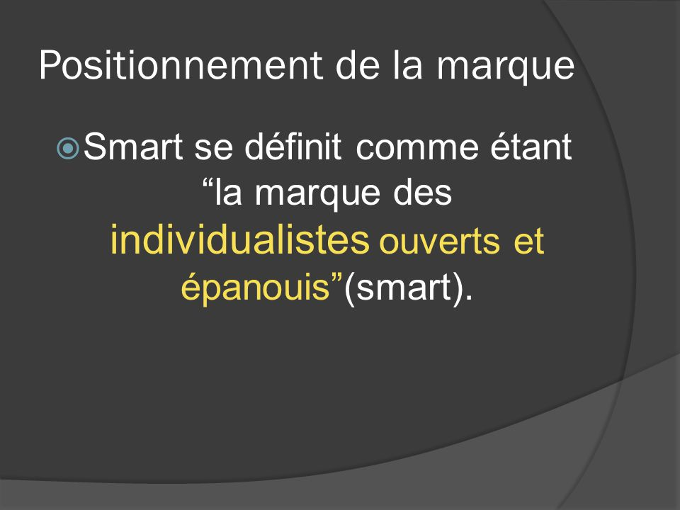 Bibliographie Site officiel de smart: fr.smart.com