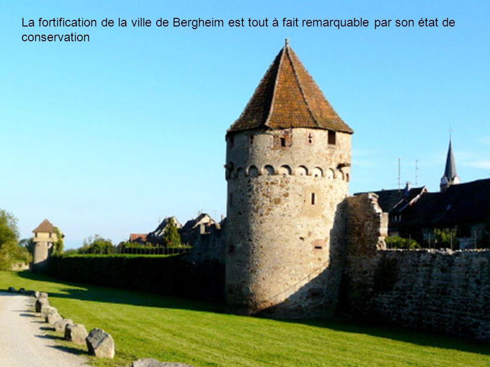 La fortification de la ville de Bergheim est tout à fait remarquable par son état de conservation