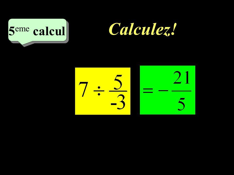 Calculez! –1–1 4 eme calcul 4 eme calcul 4 eme calcul