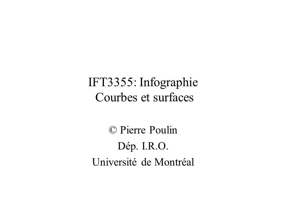 IFT3355: Infographie Courbes et surfaces © Pierre Poulin Dép. I.R.O. Université de Montréal