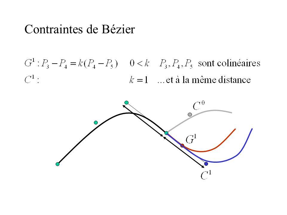 Contraintes de Bézier