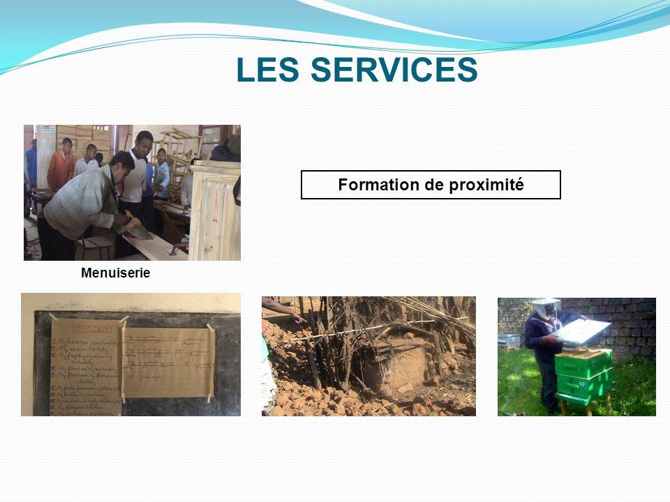 LES SERVICES Le Service de la Production - Production * Prestation de service * Formation continue Ouvrage bois Coupe et Couture LES SERVICES