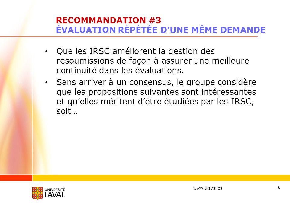 www.ulaval.ca 19 AUTRES PISTES DE RÉFLEXION (suite) Révision du budget par le comité : quelles devraient-elles être les règles de révision du budget et comment éviter que cet exercice ne devienne « aléatoire » .