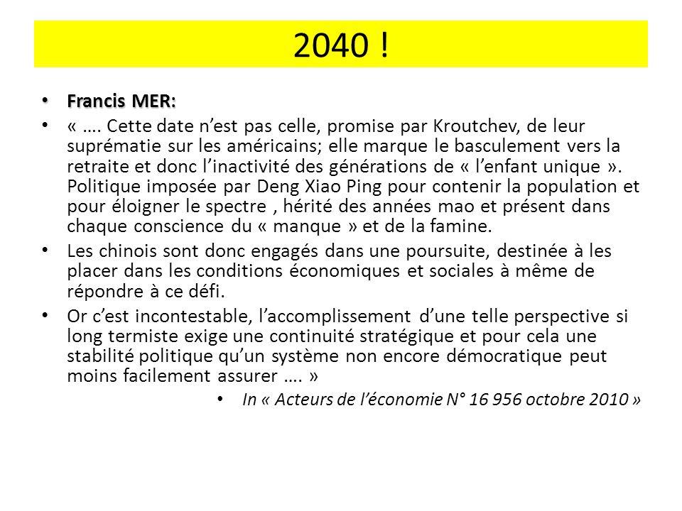 2040 .Francis MER: Francis MER: « ….
