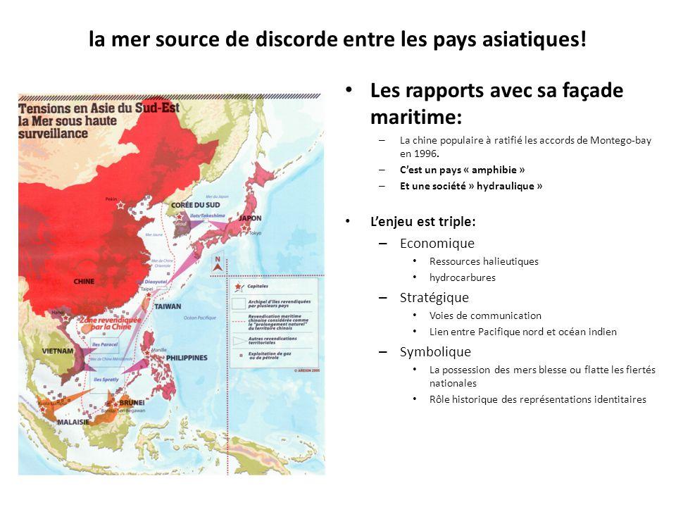 la mer source de discorde entre les pays asiatiques.