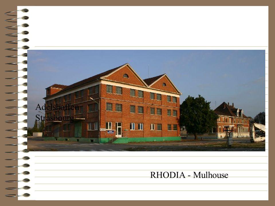 RHODIA - Mulhouse Adelshoffen Strasbourg